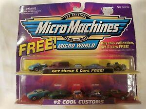 Micro Machines #2 Cool Customs Micro World + 5 Cars FREE Galoob Lmtd Edition