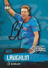 ✺Signed✺ 2015 2016 ADELAIDE STRIKERS Cricket Card BEN LAUGHLIN Big Bash League