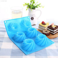 Swirl Shaped Silicone Cake Mold Baking Jelly Muffin Decorating Cupcake Mould