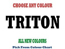 Triton 1200mm Longhorn Decal Sticker Car Truck Ute RM Williams Mitsubishi