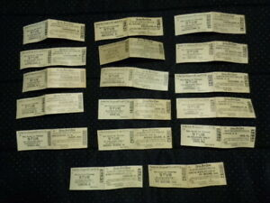Vintage 1940s Lot of 17 New York, Chicago & St. Louis Railroad Passenger Tickets