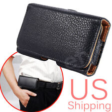 """Leather Case Carrying Pouch for iPhone 6 6s 7 4.7"""" With Belt Clip Holster Cover"""