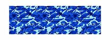 """GLOSS BLUE DECAL MADE FROM 3M WRAP VINYL 48x15"""" TRUCK CAMO PRINT CAMOUFLAGE"""