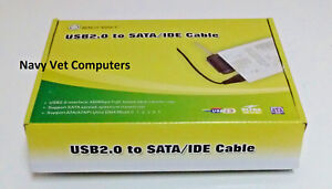 IO Crest USB 2.0 to SATA/IDE Adapter with Power Adapter SY-U2SAIDE