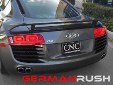 German Rush Unpainted Fiberglass GT style Rear Spoiler Audi R8 2007 - 2014