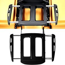 Black Adjustable Two-Up Luggage Rack For Harley Street Glide Road King 09-17 18