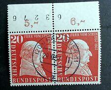 BRD MiNr. 277 Freiherr vom Stein waag. Paar OR BZ Vollstempel Hannover