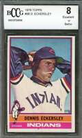 Dennis Eckersley Rookie Card 1976 Topps #98 Cleveland Indians BGS BCCG 8