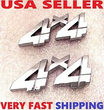 X2 Chrome 4 X 4 EMBLEM 4X4 CLASSIC SEMI TRUCK LOGO DECAL badge SIGN UNIVERSL FIT