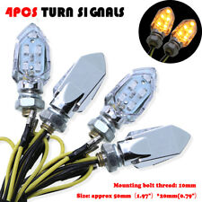 4X Black Amber Turn Signals Light Indicator Fit Suzuki Bandit GSF 1200 400 600