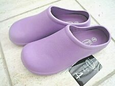 NEW Burwood lilac garden CLOGS -Size 4 UK - Made by Briers.