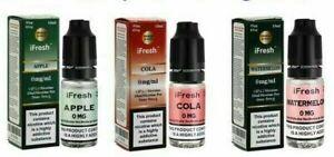 iFRESH Vape E Liquid 10X10ml E Liquid Juice Multipack Deals 3/6/11/18mg Sinbury