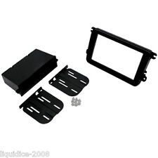CT24VW09 VOLKSWAGEN CADDY 2004 ONWARDS BLACK DOUBLE DIN FASCIA ADAPTER KIT