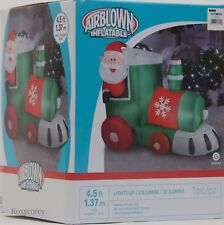 4 Ft. Gemmy Airblown Inflatables Santa in Train Christmas