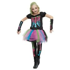 Girls Funky Punky Bones Costume US Shipping