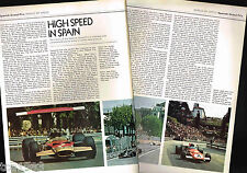 vintage SPANISH GRAND PRIX GP F1 Formula One ARTICLE / Photos / Pictures: Jarma,