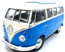 WELLY 12531 1962 VW VOLKSWAGEN MICROBUS BUS 1/18 BLUE WHITE