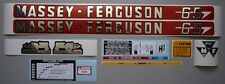 Massey-Ferguson MF 65 Tractor Complete Decal Set Sparex Restoration Quality Kit
