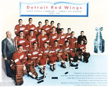1951-52 DETROIT RED WINGS HOCKEY STANLEY CUP CHAMPIONS 8X10 TEAM PHOTO