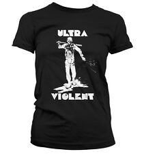 A Clockwork Orange Ultra Violent Ladies Black Gildan Softstyle T-shirt