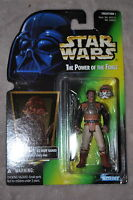 STAR WARS POWER OF THE FORCE LANDO CALRISSIAN AS SKIFF GUARD W/ FORCE PIKE MOSC