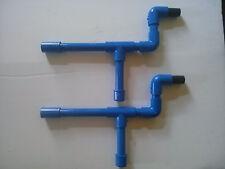 Marshmallow PVC Blue Blow Guns Shooters Set 0f 2  Mini Mallow Nerf Darts too!