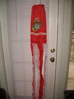 "60"" USMC Marine Corps Wind Sock Windsock (Red and White)"