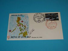 WWII FDC #83 Battle of Leyte Gulf Philippines Japan Admiral Halsey * 50th Anniv