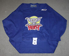 BAUER AHL 1997-99 BEAST OF NEW HAVEN BLUE PRACTICE HOCKEY JERSEY SIZE 54