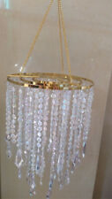 "1PCS 22"" Tall Iridesce Acrylic Bead Chain Hanging Chandelier Wedding Centerpiece"