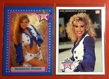 1992 Dallas Cowboys Cheerleader Promo Cards. Suzanne Rouse🔥Amy Lemon. RARE!