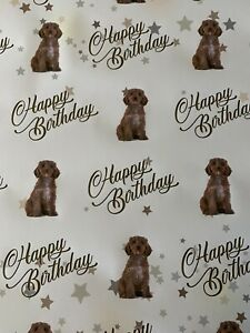 COCKAPOO BIRTHDAY PRESENT GIFT WRAPPING PAPER PETS DOGS MUM DAD FAMILY FUN NEW