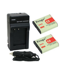 2 Battery & Charger For SONY Cyber shot DSC NP-BG1 DSC-H90 HX30V HX20V HX10V