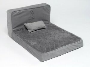 Dog Bed Upholstery Foam Small Dog Pet Seating Lounger Design Grey Non Slip comfy