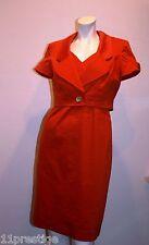 NINE WEST DRESS AND VEST ORANGE COTTON BLEND SIZE 4