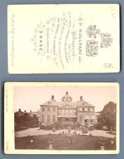 C. P. Wollrabe, Pays-Bas, La Haye La Maison du Bois  CDV vintage albumen carte d
