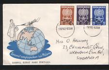 Malaya FDC Cds Singapore Malaysia 1962 Malaria Eradication