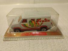 Vintage Majorette #234 Fourgon Comercial Frutas Furgoneta 1:65 Escala de Metal