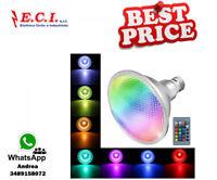 E27 10W COB PAR38 Spotlight RGB che cambia la lampada della lampadina LED teleco