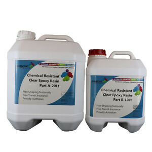 Chemical Resistant Clear Epoxy High Gloss ChemRes 2A:1B 2Pack Industrial Quality