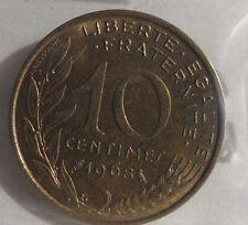 10 centimes marianne 1968 : SUP : pièce de monnaie française