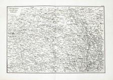1857 Frankreich France Napoleon Befreiungskriege Kupferstich-Landkarte