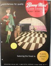 Bonny Maid AMTICO American Biltrite Rubber Company Asphalt ASBESTOS Tile 1950's