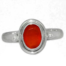 Faceted Carnelian 925 Sterling Silver Ring Jewelry s.7.5 AR155049