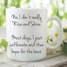 Funny Novelty Adult Humour Mug Coffee Tea Cup Rise And Shine Birthday WSDMUG844