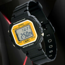 Casio LA20WH-9A Ladies Gold Black Digital Watch LED Light 5 Year Battery New