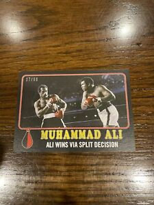 2021 TOPPS MUHAMMAD ALI PEOPLE'S CHAMP BLACK PARALLEL /56 CARD #40 ALI WINS