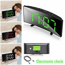 Digitaler Wecker LED USB/Batterie Wecker Nachtlicht Temperatur Tischuhr oq