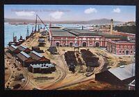 Benzaquen Unused Vintage Postcard - DOCKYARD WORKSHOPS & WATERFRONT - Gibraltar