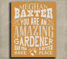 Gardener Amazing Custom Plaque Tin Sign Gift For Gardening Green Thumb Botani...